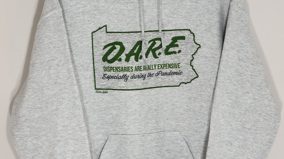 D.A.R.E. ESPECIALLY DURING THE PANDEMIC ASH GREY HOODIE 2XL/3XL