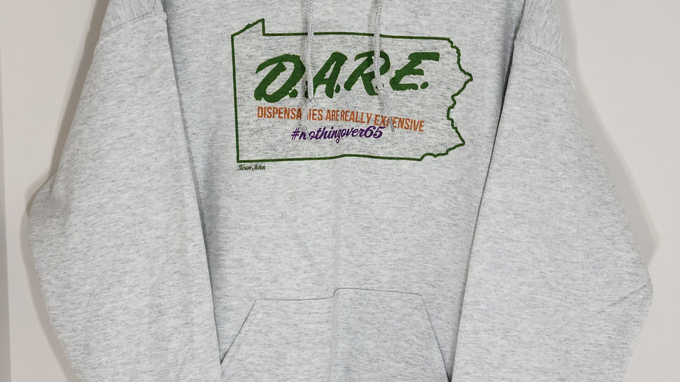 D.A.R.E. #NOTHINGOVER65 ASH GREY HOODIE
