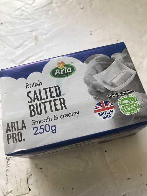 Arla Pro Salted Butter Red Tractor block 250g