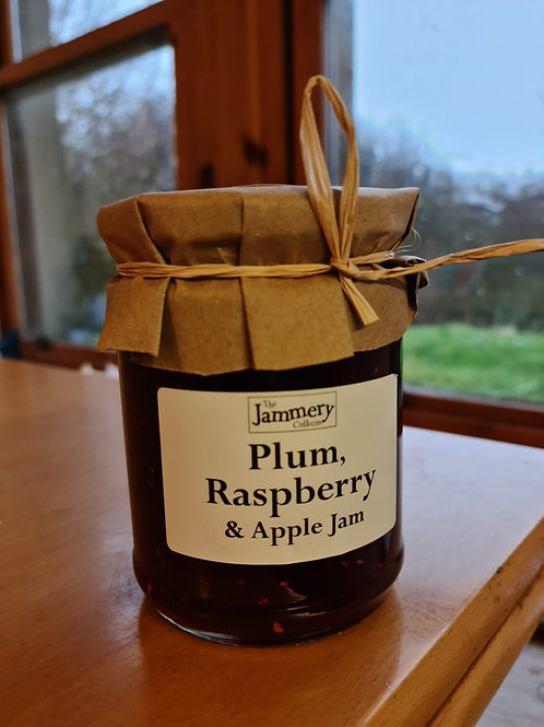 Plum, Raspberry and Apple Jam