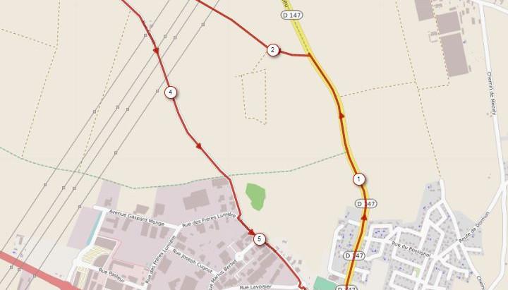Parcours du 5,5 km