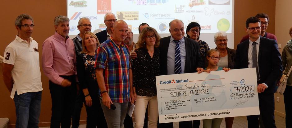 La belle conclusion pour la 3ème édition : 7000 euros pour Océane et Elodie