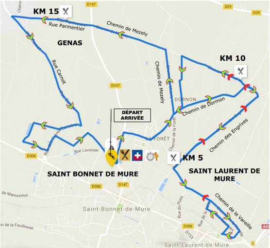 Parcours du 21 km