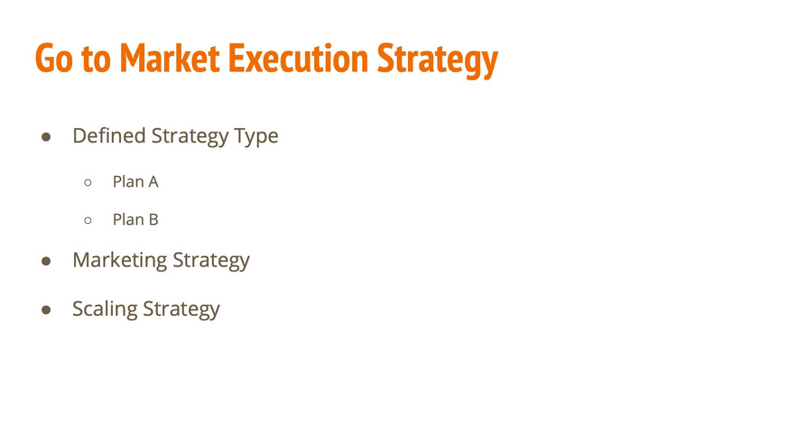 Go to Market Execution Strategy