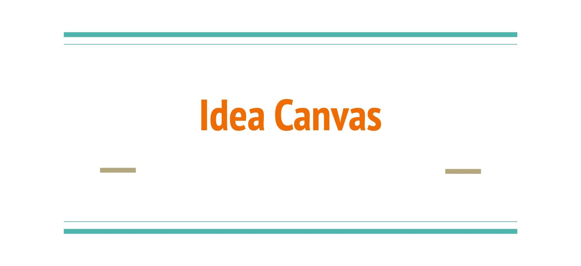 Idea Canvas