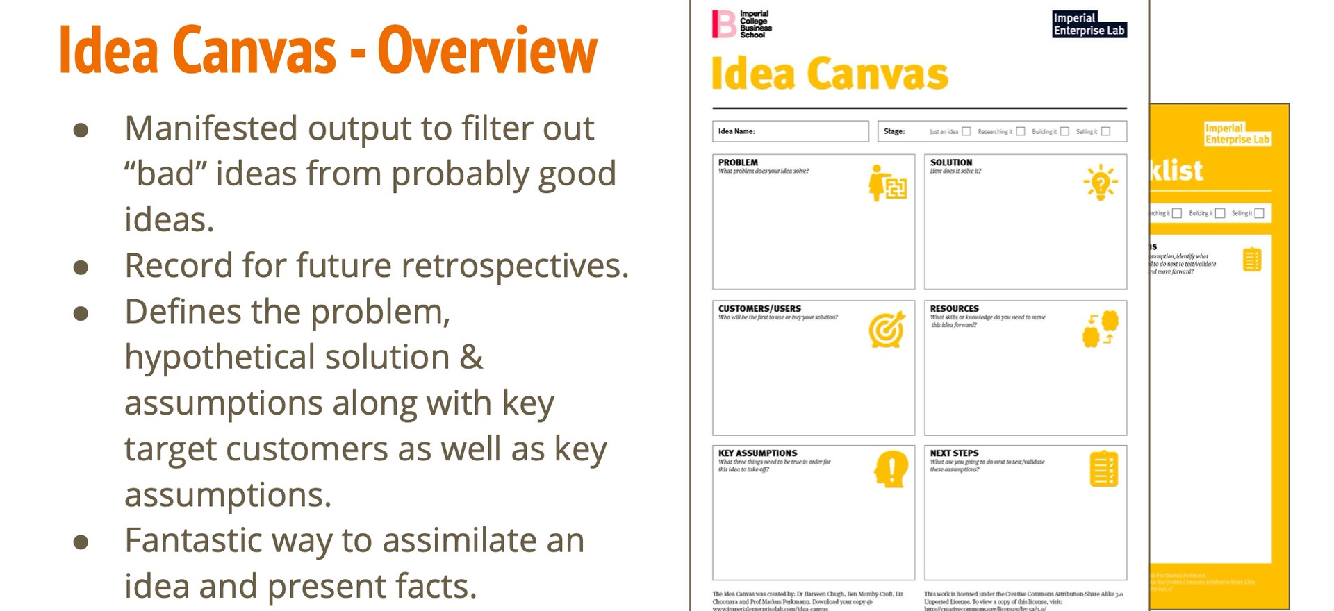 Idea Canvas - Overview