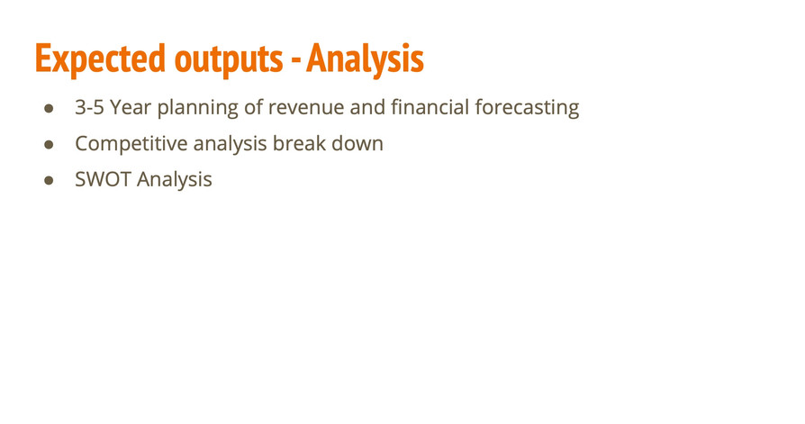 Expected Outputs - Analysis