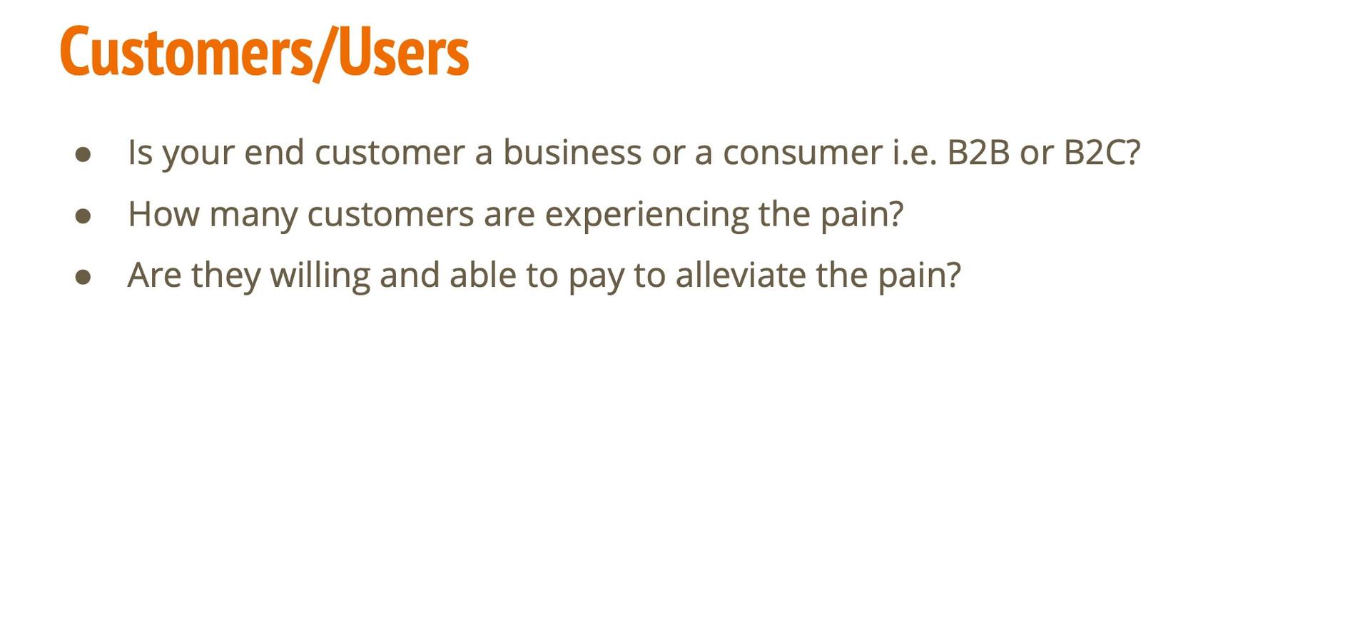 Customers/Users