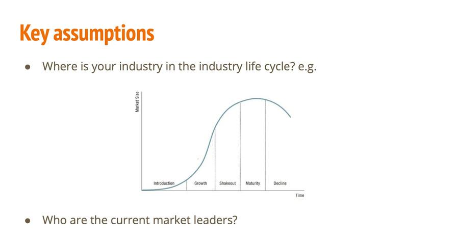 Key Assumptions Life cycle