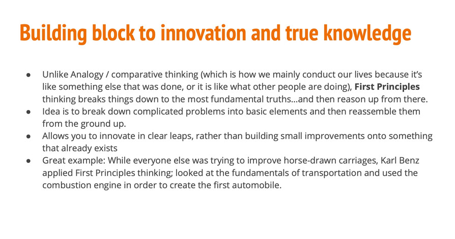 Blocking Block to innovation and true knowledge