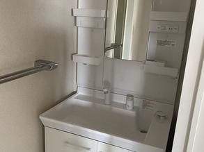 福山市沖野上町マンション洗面台、浴室水栓取り替え
