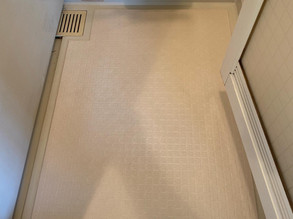 福山市沖野上町マンション、浴室床工事(DIYでもできます)