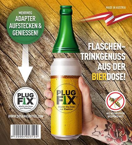 Plug Fix Aufsatz aufstecken Bier Dose, Gösser, Zipfer, Egger, Ottakringer, Schwechater, Wieselburger, Budweiser, Heineken, Stiegel, Puntigamer, Pilsner, Löwenbräu, Kaiser, Amstel, Veltins,