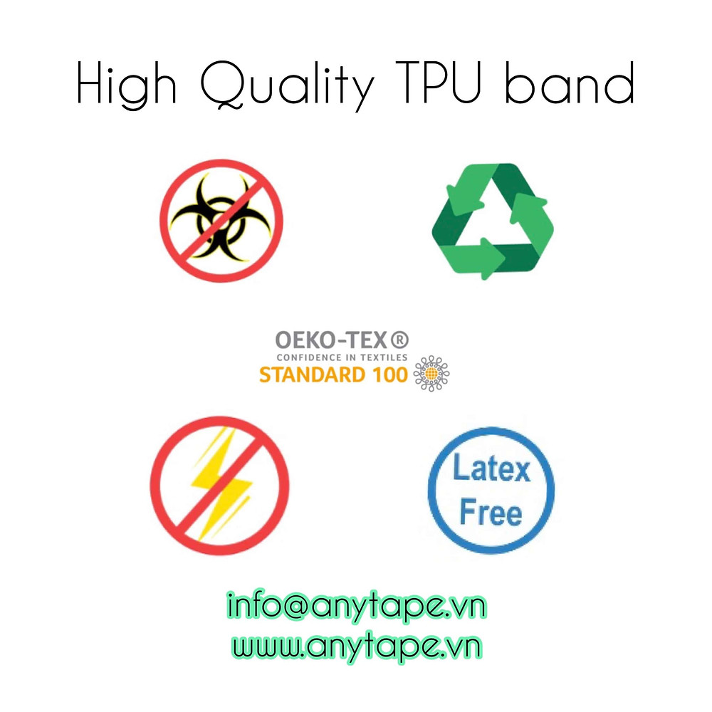 Bảo vệ sức khỏe và môi trường từ thay đổi nhỏ bằng cách sử dụng dây thun 100% TPU