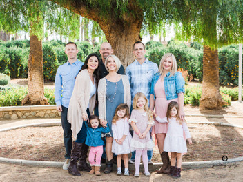Orange Grove Family Session with the Obenchain Family