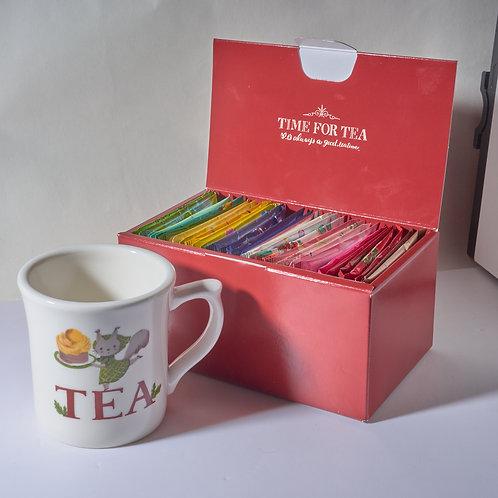 EXCLUSIVE RED GIFT BOX + TEA MUG