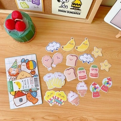 KAWAII FOOD & DRINK PACK STICKERS