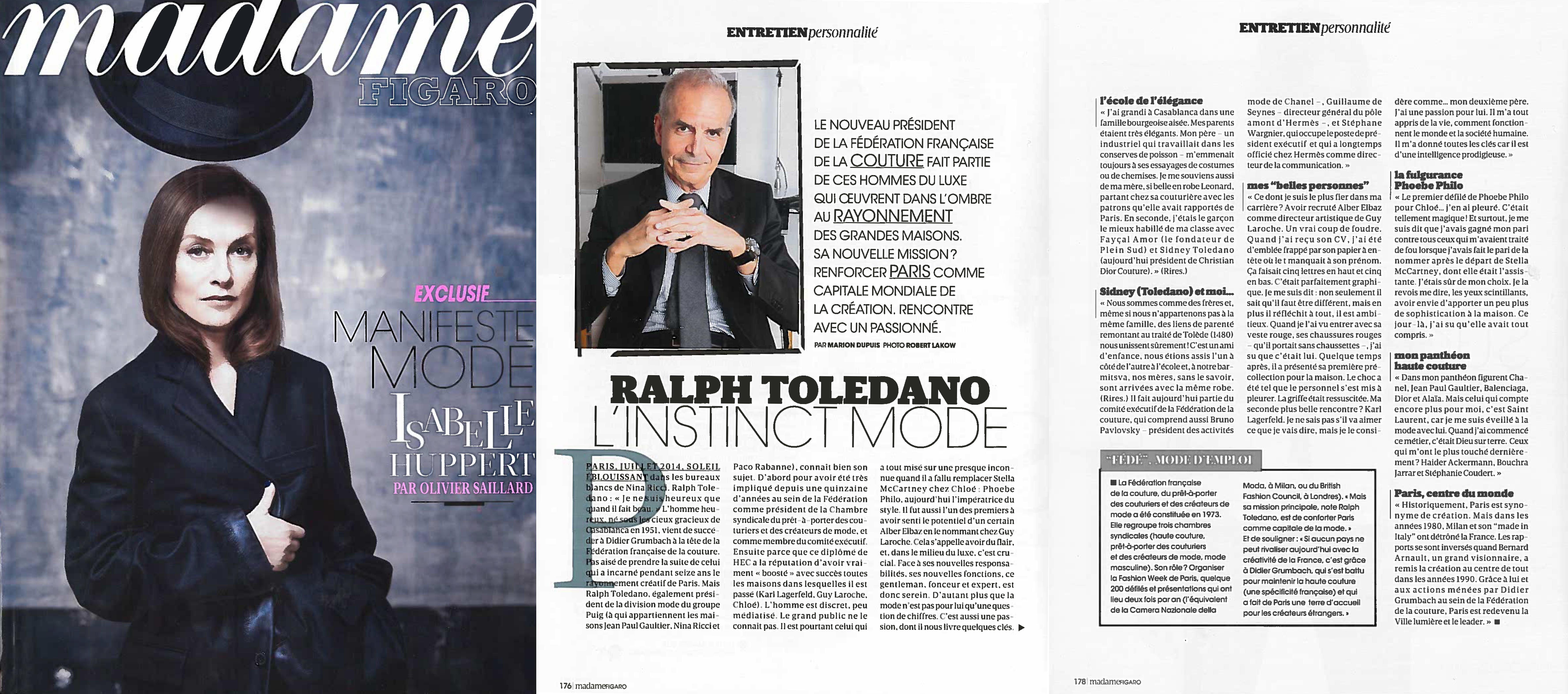 Madame Figaro - 27 Sept 2014 Cover.jpg
