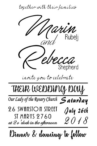 Wedding/Engagement Invitation (black&white)