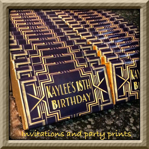 Gatsby themed chocolates bar