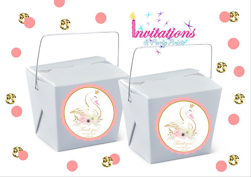 Swan themed noodle box