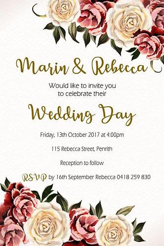 Flower invitation classic