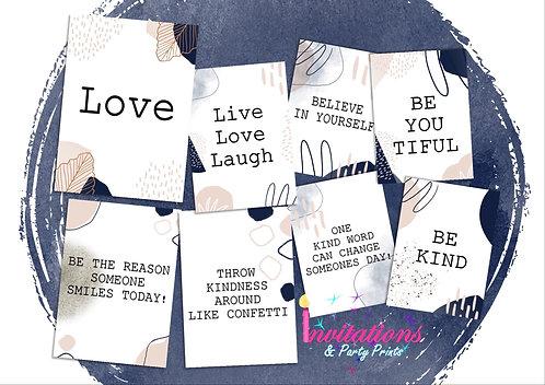 Be kind flatlay cards