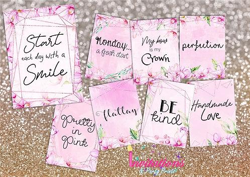 Magnolia flatlay cards