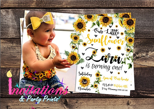 Sunflower Zara Invitation