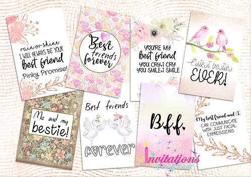 Bestie Flatlay cards
