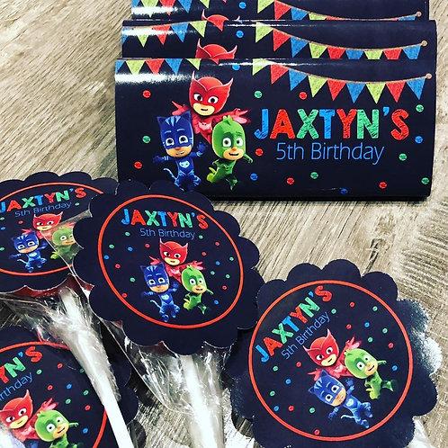 PJ Masks chalk chocolate bars x 10 plus express post