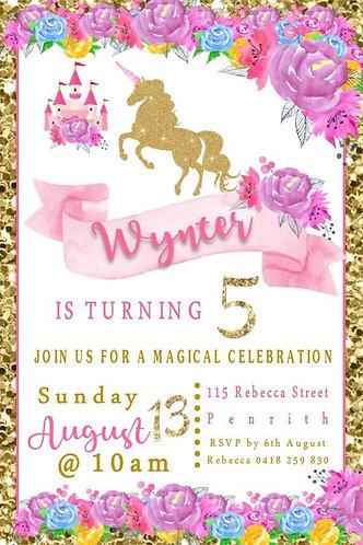 Unicorn magical invitation