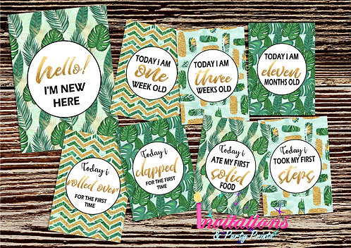 Tropical milestone cards
