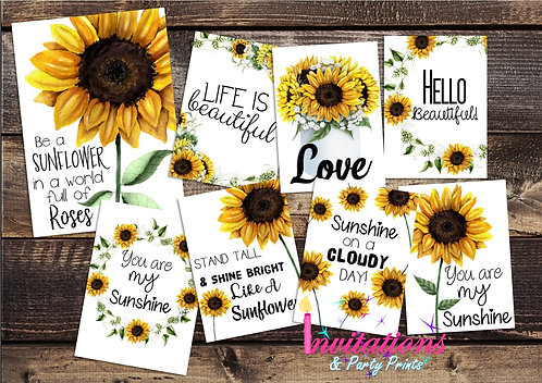 Sunflower Flat lay cards