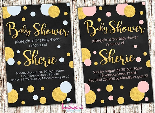 Baby Shower chalk spots