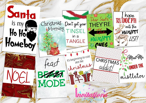 Christmas flatlay card pack 1