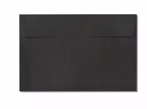 Black C6 envelope