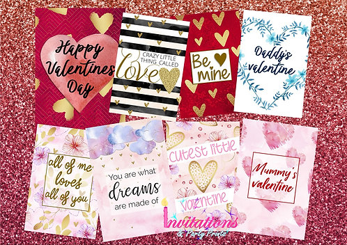 Valentine's Day Flatlay cards