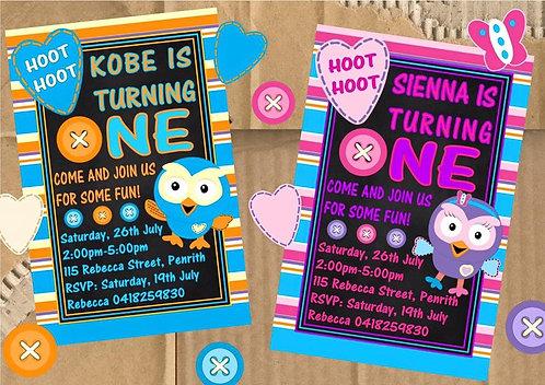Hootabelle Invitation