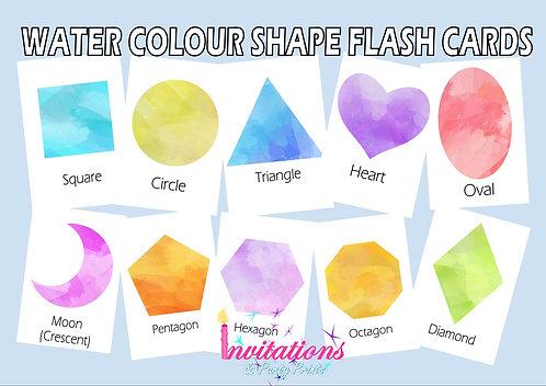 Watercolour shape cards