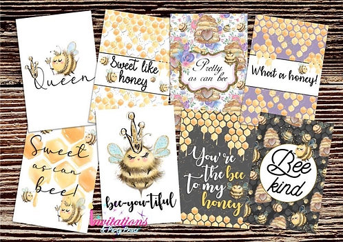 Queen Bee Flatlay cards