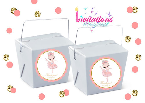 Ballerina themed noodle box