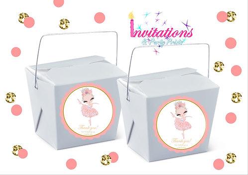 Ballerina themed noodle box