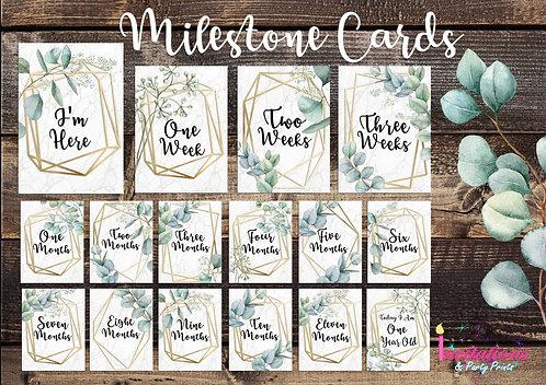 Eucalyptus Milestone cards