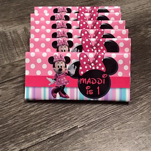 Minnie Mouse polka chocolate bar