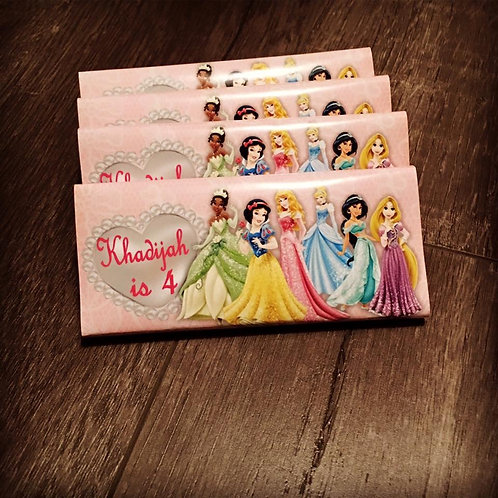 Disney Princess chocolate bar