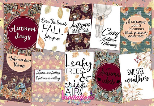 Autumn days Flatlay cards
