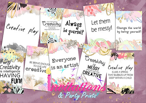 Creative play cards