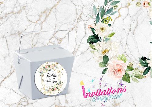 Blush geometric party box