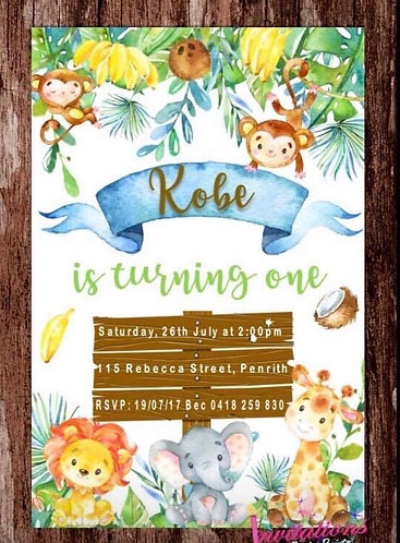 Jungle watercolour Invitation